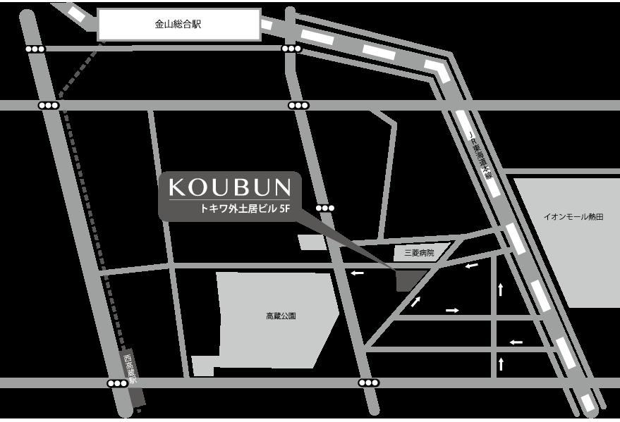 弘文社周辺の地図